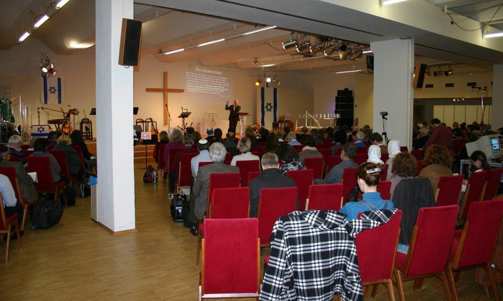Blick auf den Konferenzsaal während Uschomirskis Vortrag
