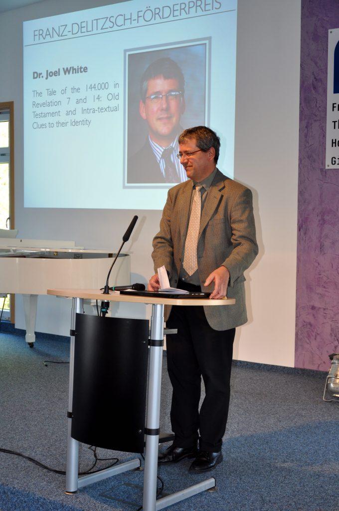 Dr. Joel White bei seiner Dankesrede