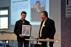Markus Voss-Göschel beim Empfang der Urkude