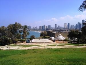 Blick auf Tel Aviv von Jaffa aus
