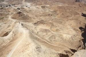 Eine römische Belagerungsrampe zur Festung Masada
