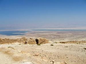 Masada - Blick zum Toten Meer