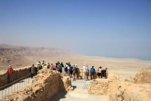Unsere Reisegruppe auf Masada