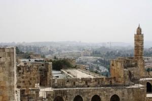 Blick vom David Tower über Jerusalem