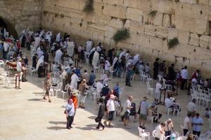 Die Klagemauer, Symbol des Judentums und der Bitte um Schuldvergebung in einem