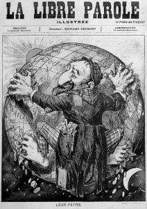 1893_La-Libre-Parole-antisemitische-Karikatur